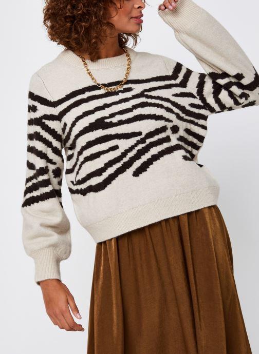 Vêtements OBJECT Objdarma Knit Pullover Beige vue droite