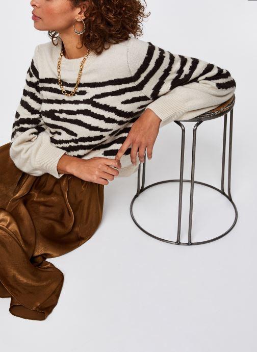 Vêtements OBJECT Objdarma Knit Pullover Beige vue détail/paire