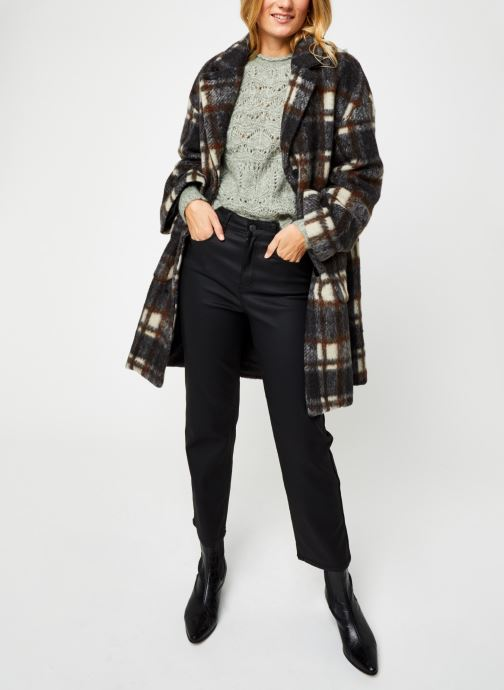 Vêtements OBJECT Objnina Long Coat Marron vue bas / vue portée sac