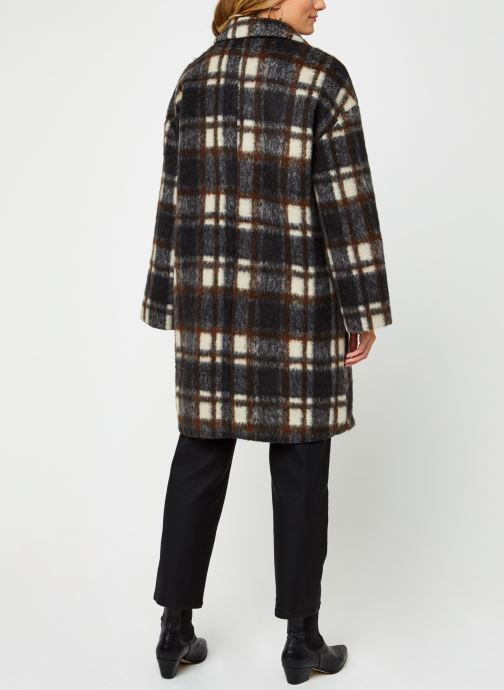 Vêtements OBJECT Objnina Long Coat Marron vue portées chaussures