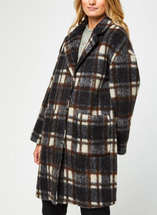 Vêtements OBJECT Objnina Long Coat Marron vue droite