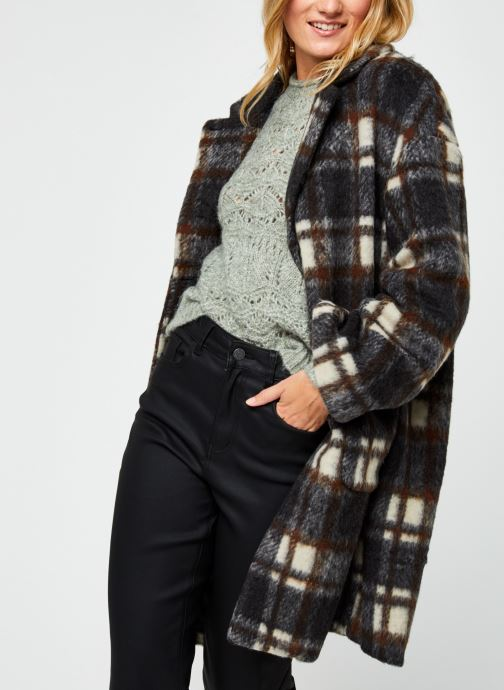 Vêtements OBJECT Objnina Long Coat Marron vue détail/paire