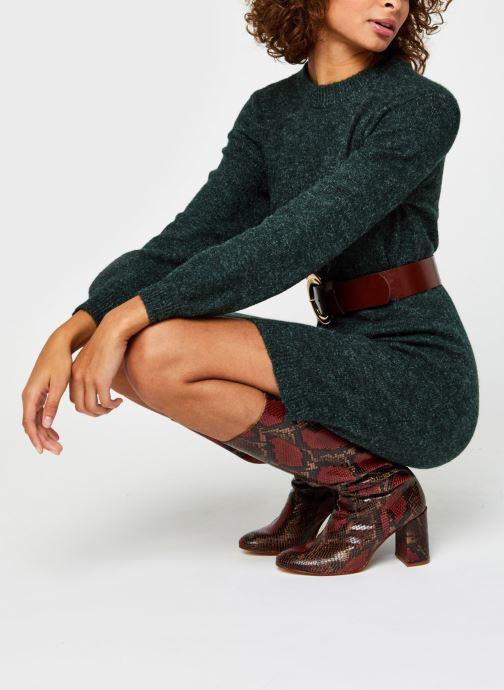 Vêtements OBJECT Objeve Nonsia Knit Dress Vert vue bas / vue portée sac