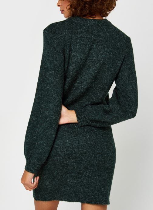 Vêtements OBJECT Objeve Nonsia Knit Dress Vert vue portées chaussures