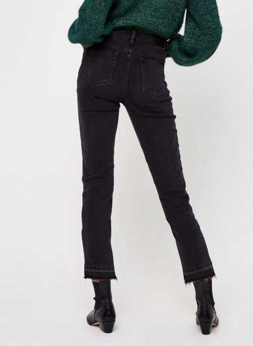 Vêtements OBJECT Objconnie Cropped Black Jeans Noir vue portées chaussures