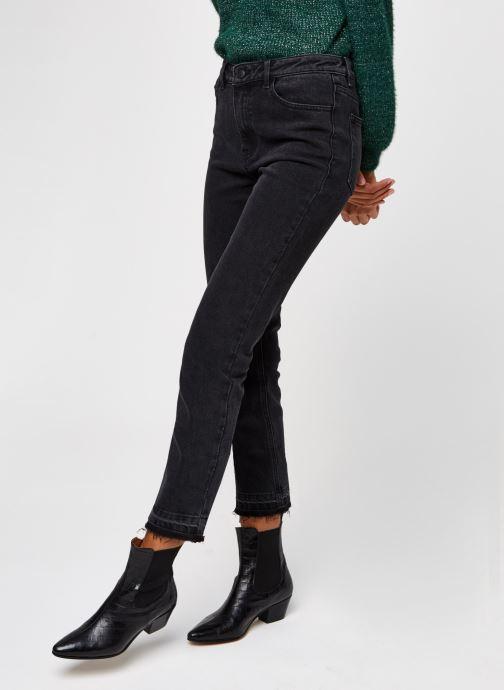 Vêtements OBJECT Objconnie Cropped Black Jeans Noir vue détail/paire