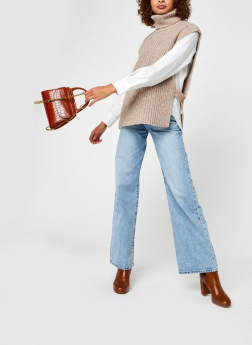Vêtements OBJECT Objstella Knit Waistcoat Beige vue bas / vue portée sac