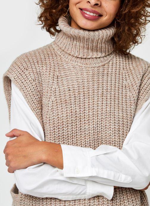 Vêtements OBJECT Objstella Knit Waistcoat Beige vue face