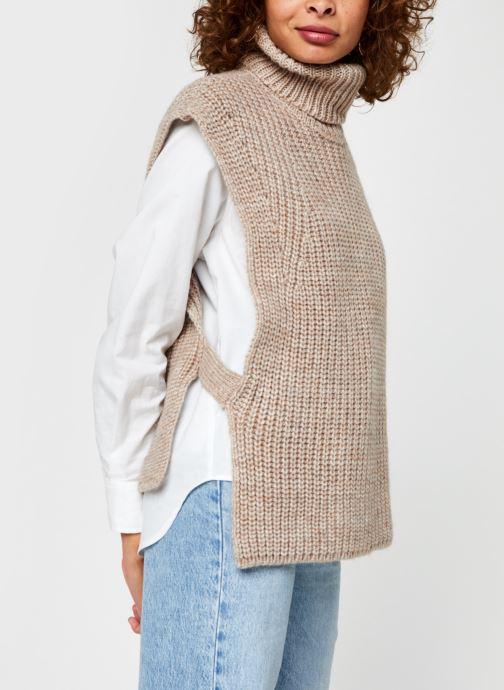 Vêtements OBJECT Objstella Knit Waistcoat Beige vue droite