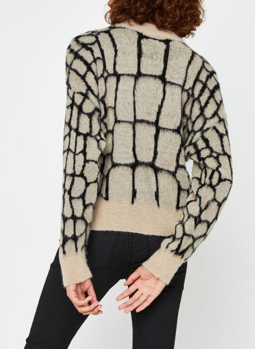 Vêtements OBJECT Objmelanie Knit Pullover Beige vue portées chaussures