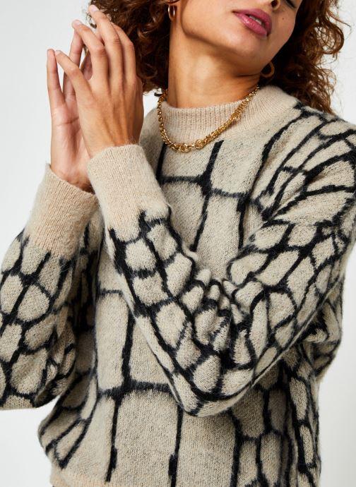 Vêtements OBJECT Objmelanie Knit Pullover Beige vue face
