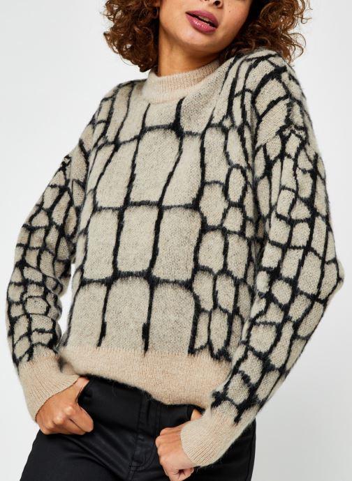 Vêtements OBJECT Objmelanie Knit Pullover Beige vue droite