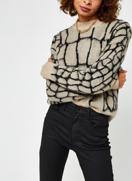 Vêtements OBJECT Objmelanie Knit Pullover Beige vue détail/paire
