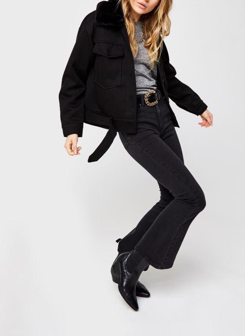 Vêtements OBJECT Objwin Denim Flared Jeans Noir vue bas / vue portée sac