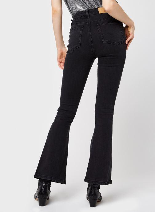 Vêtements OBJECT Objwin Denim Flared Jeans Noir vue portées chaussures