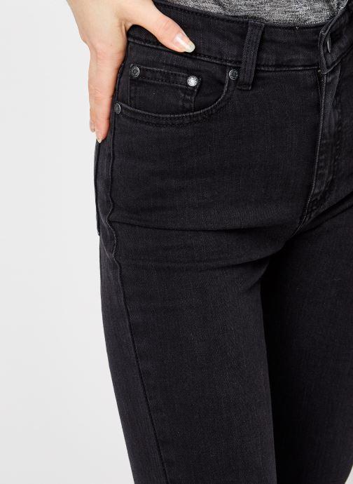 Vêtements OBJECT Objwin Denim Flared Jeans Noir vue face