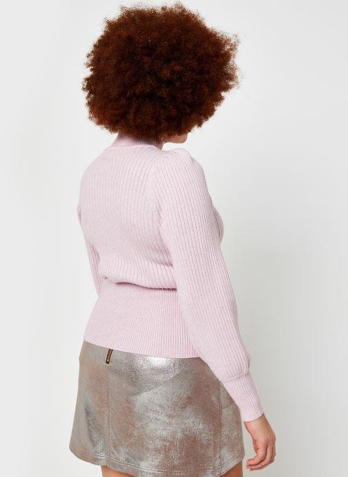 Vêtements OBJECT Objnola Knit Pullover Rose vue portées chaussures