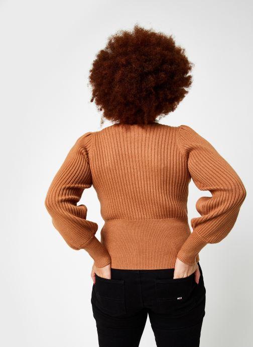 Vêtements OBJECT Objnola Knit Pullover Marron vue portées chaussures
