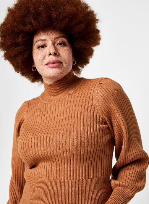 Vêtements OBJECT Objnola Knit Pullover Marron vue face