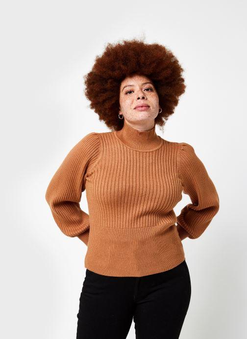 Vêtements OBJECT Objnola Knit Pullover Marron vue droite