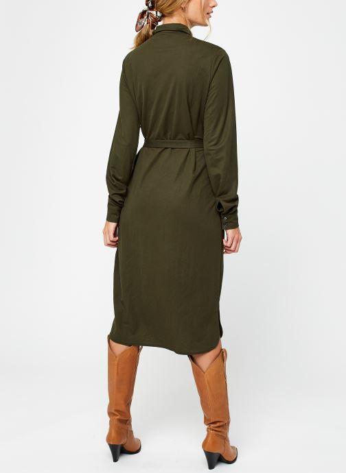 Vêtements Vila Visafina Midi Dress Vert vue portées chaussures