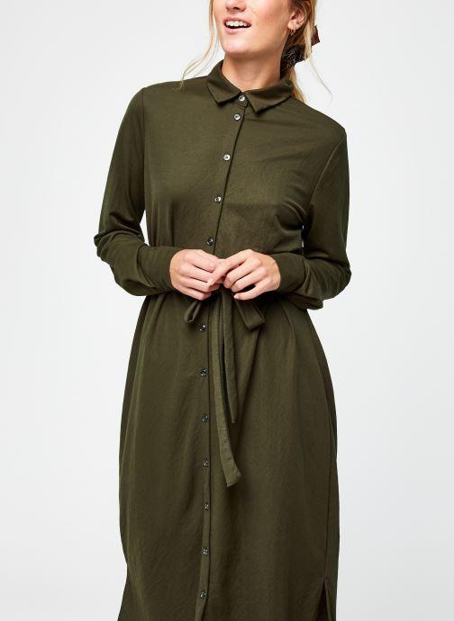 Vêtements Vila Visafina Midi Dress Vert vue droite