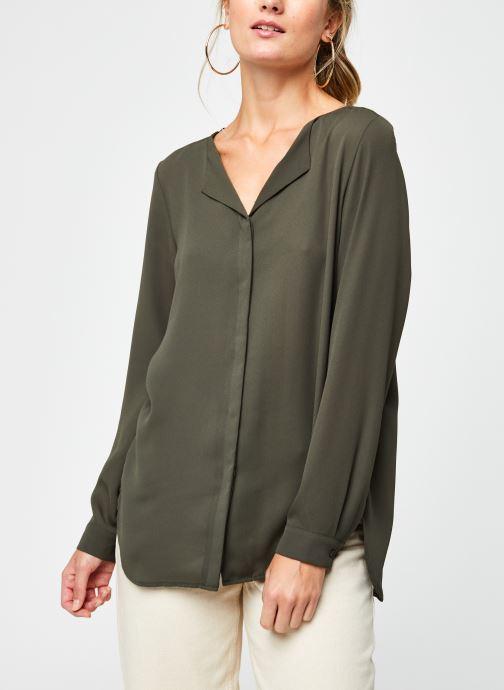 Vêtements Vila Vilucy Shirt Vert vue droite