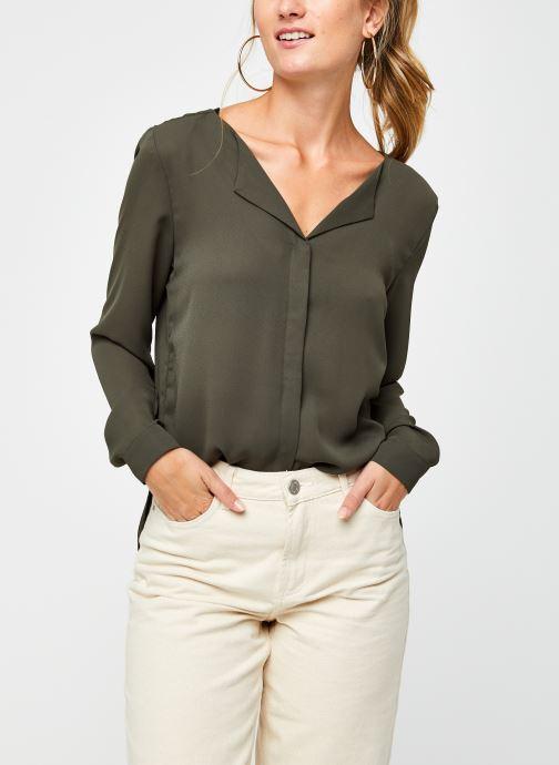 Vêtements Vila Vilucy Shirt Vert vue détail/paire