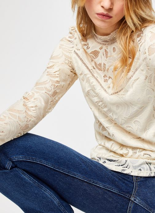 Vêtements Vila Vistasia Lace Top Beige vue détail/paire