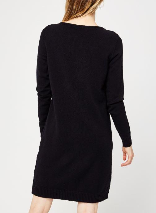 Vêtements Vila Viril Knit Dress Noir vue portées chaussures