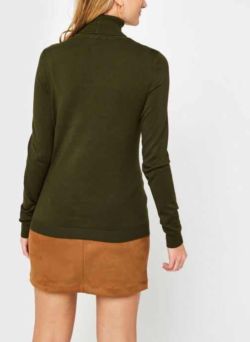 Vêtements Vila Vibolonia Knit Rollneck Top Vert vue portées chaussures