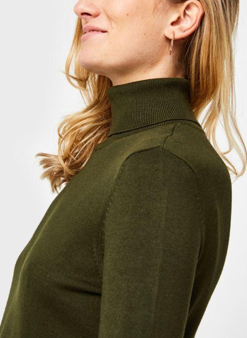 Vêtements Vila Vibolonia Knit Rollneck Top Vert vue face
