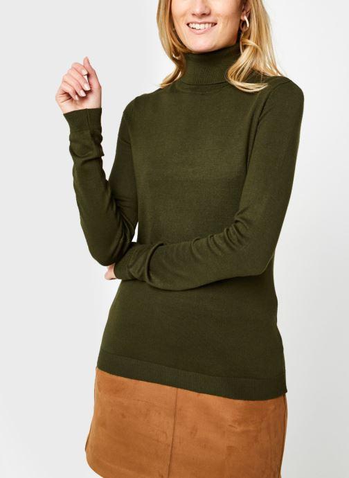 Vêtements Vila Vibolonia Knit Rollneck Top Vert vue droite