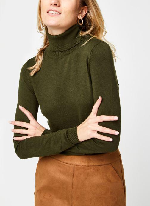Vêtements Vila Vibolonia Knit Rollneck Top Vert vue détail/paire
