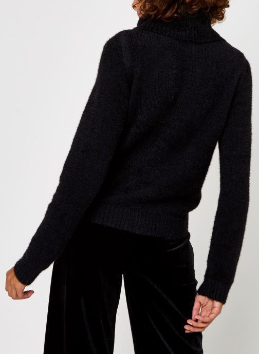 Vêtements Vila Vifeami Knit Rollneck Top Noir vue portées chaussures
