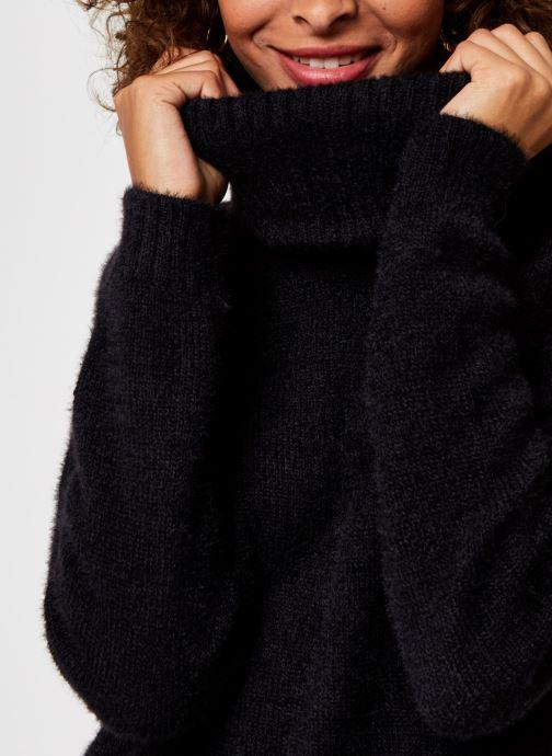 Vêtements Vila Vifeami Knit Rollneck Top Noir vue face