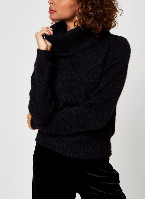 Vêtements Vila Vifeami Knit Rollneck Top Noir vue droite