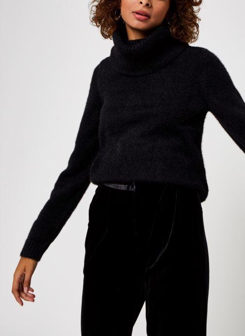 Vêtements Vila Vifeami Knit Rollneck Top Noir vue détail/paire
