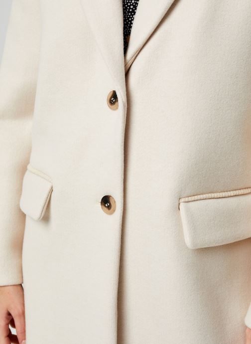 Vêtements Vila Vicallee Wool Coat Blanc vue face