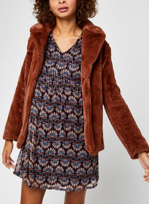 Vêtements Vila Vikoda Jacket Marron vue détail/paire