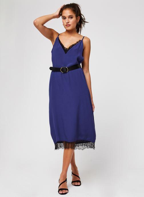 Vêtements Vila Vinicolina Midi Dress Bleu vue bas / vue portée sac