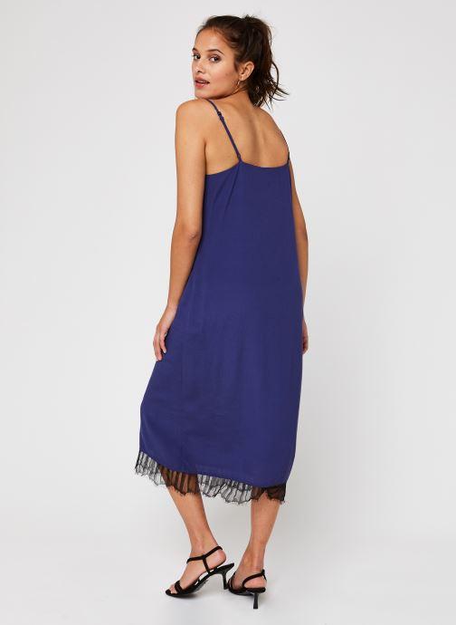 Vêtements Vila Vinicolina Midi Dress Bleu vue portées chaussures