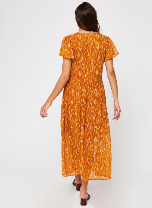 Vêtements Vila Visavina Lenoa Ancle Dress Jaune vue portées chaussures
