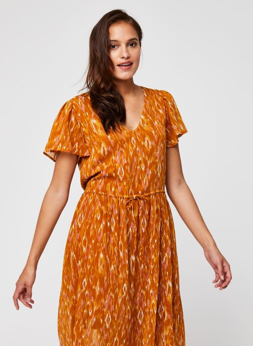 Vêtements Vila Visavina Lenoa Ancle Dress Jaune vue droite