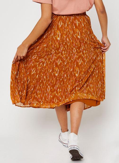 Vêtements Vila Visavina Lenoa Ancle Skirt Jaune vue portées chaussures