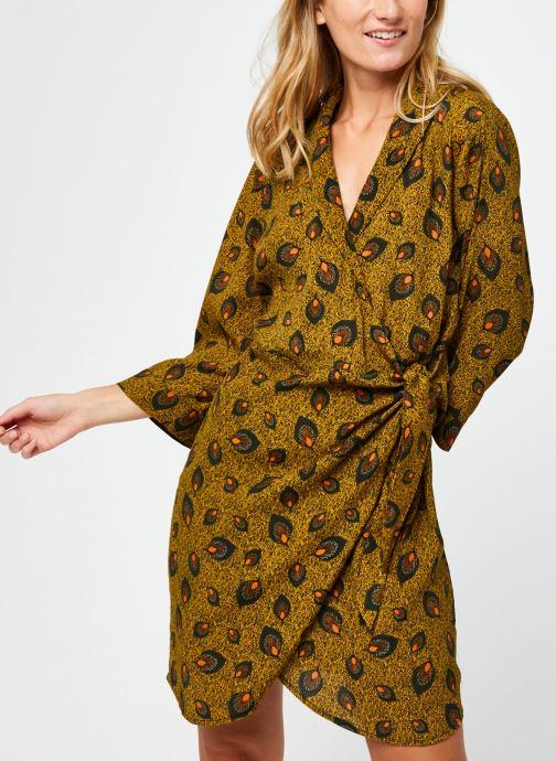 Vêtements Vila Vimacie Shiva 3/4 Dress Vert vue droite