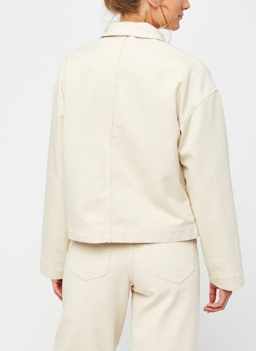 Vêtements Vila Vimoano Denim Jacket Beige vue portées chaussures