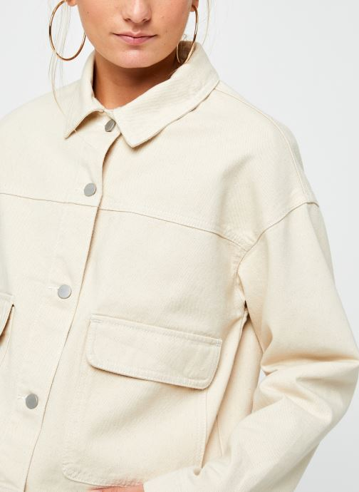 Vêtements Vila Vimoano Denim Jacket Beige vue face