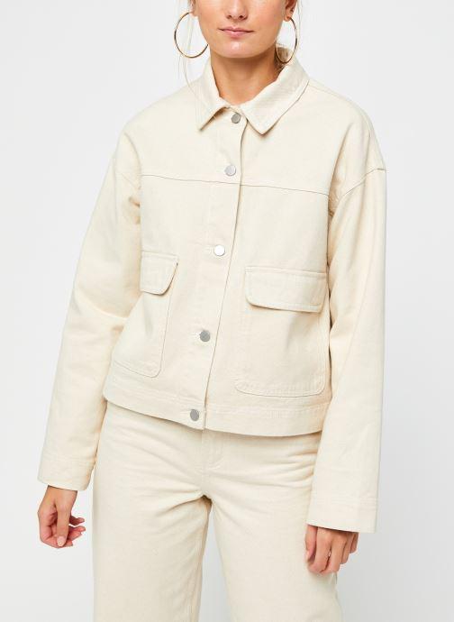 Vêtements Vila Vimoano Denim Jacket Beige vue droite