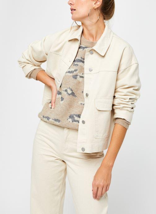Vêtements Vila Vimoano Denim Jacket Beige vue détail/paire